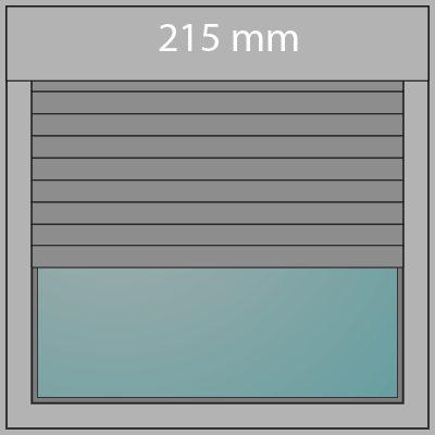 Aufsatzrollladen 215mm + Insektenschutz