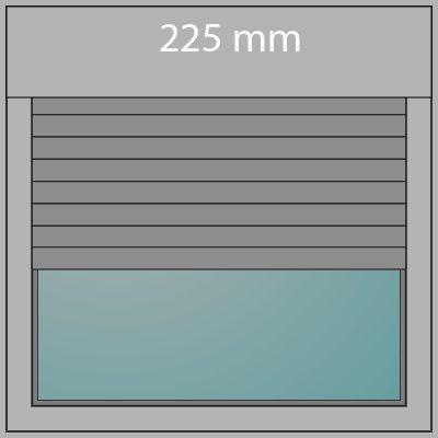 Aufsatzrollladen 225mm + Insektenschutz
