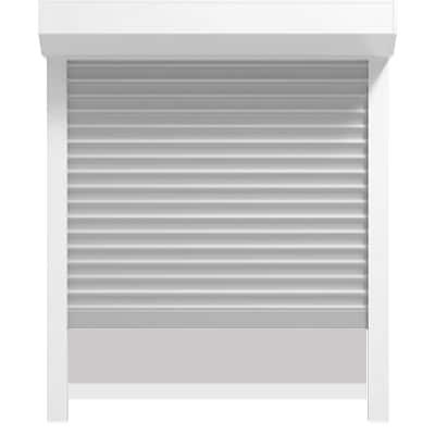 Vorsatzrollladen mit eckigem Kasten 45° und Insektenschutz